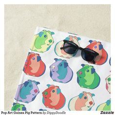 Pop Art Guinea Pig Pattern Beach Towel Custom Beach Towels, Pool Days, Summer Accessories, Succulents Diy, Beach Day, Guinea Pigs, Art For Kids, Pop Art, Print Design