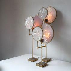 Contemporary Ensemble of Three Table Lamps, Sander Bottinga For Sale Casa Wabi, Contemporary Table Lamps, Modern Table Lamps, Modern Bedroom Design, Bedroom Lamps, Unique Lamps, Vintage Lamps, Lamp Design, Interior