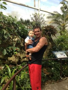 Sexy Ryan Lochte with his nephew. Nothing is more adorable than a hot guy with a baby
