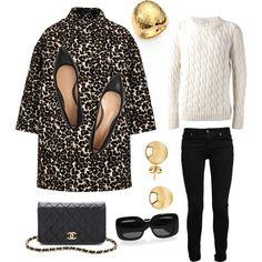 ES Leopard print coat casual