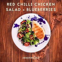 Chicken + blueberries… the best combo since Bieber + Gomez. They're getting back together eventually right? While we're waiting, follow us for recipes, inspiration, health/fitness stuff and to be kept updated on our launch in July. . ☑️ Chicken is a great source of protein – the building block of skin, muscle, nails and hair. ☑️ Blueberries are loaded with antioxidants and are anti-inflammatory (helps muscle soreness). ☑️ Chillies have been shown to increase your metabolism and assist with…