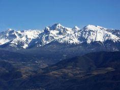 grenoble france | Belledonne mountains seen from the Bastille, Grenoble, France