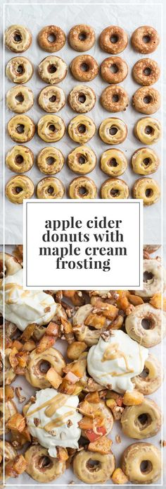 The perfect fall begins with these 10 minute apple cider donuts with maple glaze…