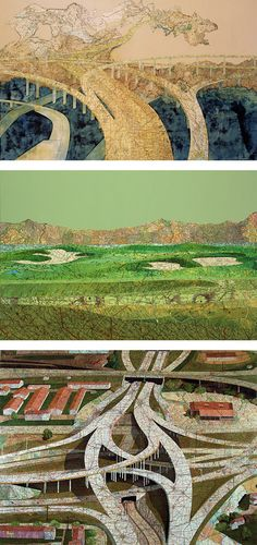 Creative Map Collages by Matthew Cusick.