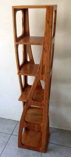 Spiral Shelf #woodworkingprojects