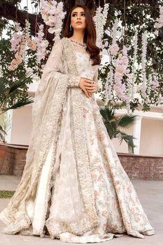 Ideas For Wedding Dresses Pakistani Party Wear Bridal Lehenga Wedding Robe, Indian Wedding Gowns, Pakistani Wedding Outfits, Indian Bridal Outfits, Pakistani Bridal Dresses, Pakistani Wedding Dresses, Ivory Wedding, Walima Dress, Pakistani Lehenga