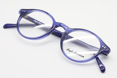 370bb07173d2 eyehuggers - Bold Blue Anglo American 406 TR20 Vintage Style Panto Shaped  Acrylic Glasses Frames