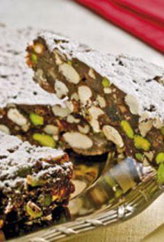 Italiensk panforte kage med chokolade | SØNDAG Christmas Treats, Christmas Cakes, Rocky Road, Italian Desserts, Best Dishes, Bread Baking, Sweet Treats, Snacks, Biscotti