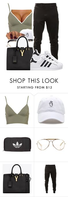 """""""1321"""" by ashley-mundoe ❤ liked on Polyvore featuring adidas Originals, CÉLINE and Yves Saint Laurent"""