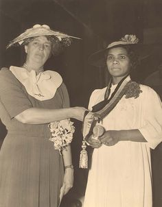 You gain strength, courage and confidence by every experience in which you really stop to look fear in the face. You must do the thing which you think you cannot do. • Eleanor Roosevelt.   Photo:  Marian Anderson receives the Spingarn Medal from Eleanor Roosevelt
