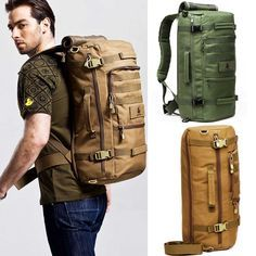 Outdoor Military Backpack daypack Camping Hiking Tactical Rucksack shoulder Bag #New
