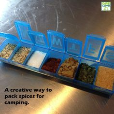 This is a great idea if you need to take a few spices camping. Do you have any creative packing tips you use when camping?