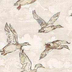 Flying Ducks Beige wallpaper by Albany