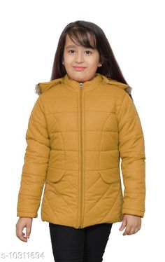 Jackets & Coats StreetLine Mustard Stylish Kids Girls Jacket Fabric: Nylon Sleeve Length: Long Sleeves Pattern: Solid Multipack: 1 Sizes:  4-5 Years (Length Size: 20 in Waist Size: 13 in Hip Size: 15 in)  5-6 Years (Length Size: 21 in Waist Size: 14 in Hip Size: 16 in)  10-11 Years (Length Size: 25 in Waist Size: 18 in Hip Size: 20 in)  3-4 Years (Length Size: 19 in Waist Size: 12 in Hip Size: 14 in)  8-9 Years (Length Size: 23 in Waist Size: 16 in Hip Size: 18 in)  7-8 Years (Length Size: 22 in Waist Size: 15 in Hip Size: 17 in)  9-10 Years (Length Size: 24 in Waist Size: 17 in Hip Size: 19 in)  Country of Origin: India Sizes Available: 3-4 Years, 4-5 Years, 5-6 Years, 6-7 Years, 7-8 Years, 8-9 Years, 9-10 Years, 10-11 Years *Proof of Safe Delivery! Click to know on Safety Standards of Delivery Partners- https://ltl.sh/y_nZrAV3  Catalog Rating: ★4.3 (406)  Catalog Name: Modern Stylus Girls Jackets & Coats CatalogID_1872424 C62-SC1153 Code: 547-10311694-