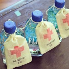 Cute idea for bachelorette favors or to put in the welcome basket for your hotel guests ♥ found on etsy.com For more wedding inspiration: ...