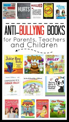 These anti-bullying books will help prepare you and your children for the back to school season. Books for parents, children and teachers. Anti Bullying Activities, Book Activities, Bullying Lessons For Kids, Books About Bullying, Bullying Prevention, Parents As Teachers, Teachers Toolbox, Mentor Texts, Character Education