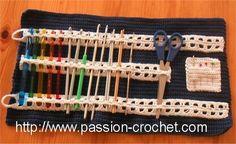 Modèle de pochette range crochet