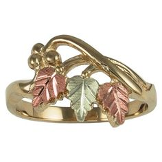 12K Black Hills Gold Leaves 10K Gold ShankColeman Black Hills Gold Jewelry is nickel free.Rings can be ordered in half sizes at no extra chargeMade in USA
