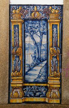 Painel de Azulejos - Leça do Balio, Portugal