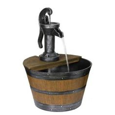 Beckett Water Pump with Lighted Barrel Fountain 7234310 at The Home Depot - Mobile