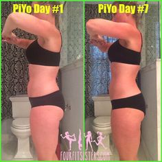 One week results from the NEW PiYo workout. Low impact, but HIGH burn. Four Fit Sisters: One week PiYo results