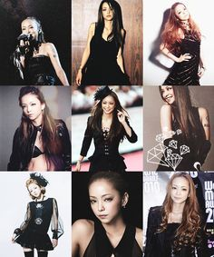I'm trying to change — Namie Amuro + black Prity Girl, Im Trying, Cool Girl, Singer, Change, Celebrities, Womens Fashion, Magazine, Inspiration