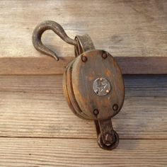 Vintage Double Wheel Pulley by:-AlegriaCollection