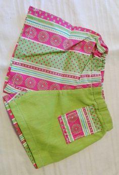 Hose grün/rosa gestreift