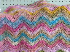 Free Easy Crochet Blanket Patterns | KNIT-O-MATIC: New Free Pattern - Simple Crochet Ripple Baby Blanket