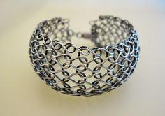 Wire Knit Bracelet.   https://www.facebook.com/ArjasUni Design Arja Aalto Finland