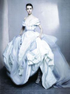 'The Power of White', Imogen Morris-Clarke by Paolo Roversi, Vogue Italia