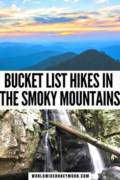 These are hands down the best hikes in the Smoky Mountains   Best Smoky Mountain Hikes   Best Hikes in Smoky Mountains National Park   Best Hikes Smoky Mountains   Best Hikes in Great Smoky Mountains   Best Hikes in the Smokies   Best Hikes in Tennessee Great Smoky Mountains   Great Smoky Mountains National Park   Great Smoky Mountains Tennessee   Great Smoky Mountains Hikes   Great Smoky Mountains Trails #besthikesinthesmokymountains #greatsmokymountainsnationalpark #tenneseehiking #smokies Smoky Mountains Hiking, Mountain Hiking, Usa Travel Guide, Travel Usa, Travel Tips, Rainbow Falls Trail, Smoky Mountain National Park, Best Hikes, United States Travel