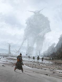 stranger in a strange land, Jakub Rozalski on ArtStation at https://www.artstation.com/artwork/VQVP4