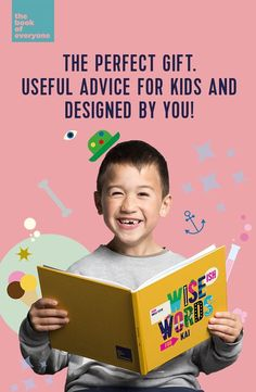Personalised, unique gift idea for Kids. Wise(ish) Words is a collection of quotes and advice for children of all ages, made by you! Thought-provoking and smile-inducing, this book is instantly and easily personalised by you to them. An original gift and lovely stocking-stuffer.