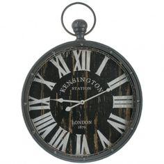 Prachtige zwarte zakhorlogeklok Kensington Afmetingen: 61 x 45 x 7 cm