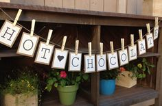 Hot Chocolate Bunting Banner / Sign for Fall and Winter Decoration at a Party. $14.50, via Etsy.
