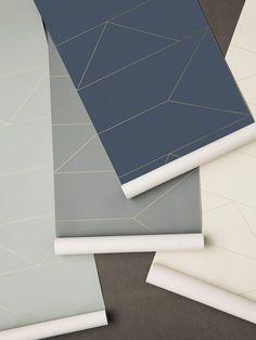 Lines Wallpaper - Dark Blue 3