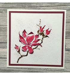 """Blume """"The Unfolding"""" Cling Stempel - Penny Black"""