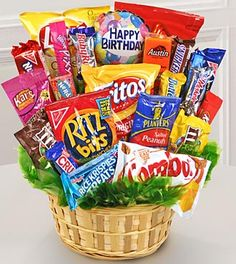 DIY Gift Basket Ideas To Inspire All Kinds of Gifts - These inexpensive DIY Christmas gift baskets make appreciated tailored presents for every person on your listing as well as within any type of Christmas gift spending plan. Candy Gift Baskets, Themed Gift Baskets, Diy Gift Baskets, Candy Gifts, Raffle Baskets, Food Bouquet, Gift Bouquet, Candy Bouquet Diy, Bouquet Cadeau