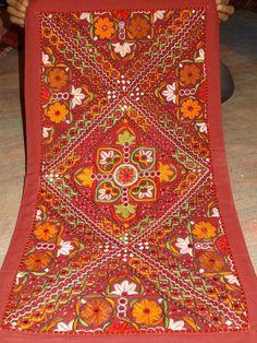 Handmade embroidery sari patchwork decoration tepestry decor wall hanging #Handmade