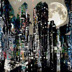 "Saatchi Art Artist steven irwin; Photography, ""Cityscape with Trees"" #art"