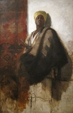 Frank Duveneck (1848-1919) Guard of the Harem, c. 1880, oil on canvas. Gift of the Artist Accession No: 1915.115 Cincinnati Art Museum