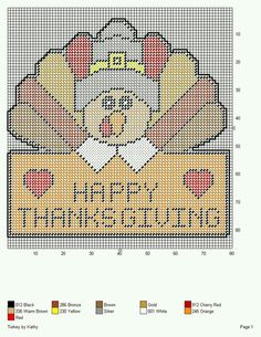 TURKEY *HAPPY THANKSGIVING* by KATHY -- WALL HANGING