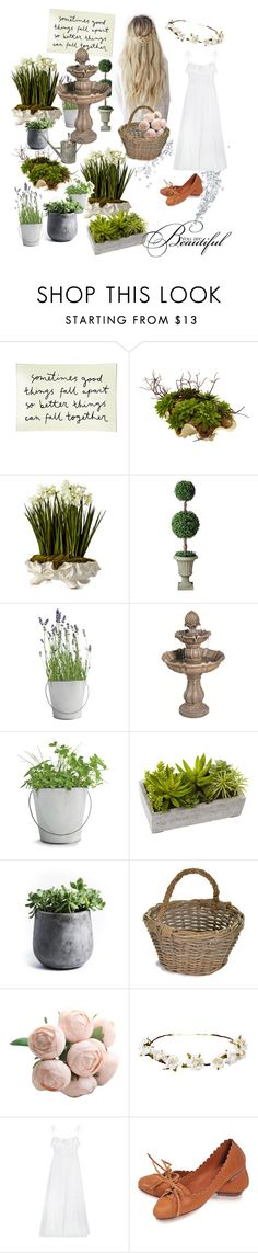 """🌿🍃🌳🌾"" by totaiiz-phrasonthi ❤ liked on Polyvore featuring Ben's Garden, John-Richard, Improvements, Potting Shed Creations, Nearly Natural, My Spirit Garden, Garden Trading, Cult Gaia and Three Graces"