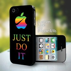 Nike JUST DO IT AND APLLE for iPhone 4 or 4s case