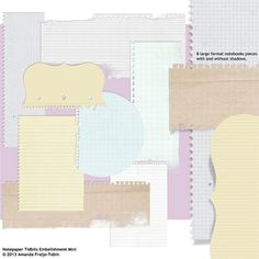 Notepaper Tidbits Embellishment Mini