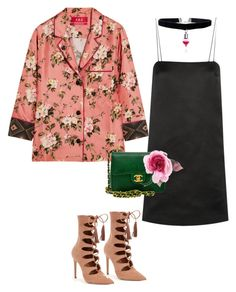 """""""Untitled #1097"""" by louneia ❤ liked on Polyvore featuring F.R.S For Restless Sleepers, The Row, Steve Madden, Chanel and Gucci"""