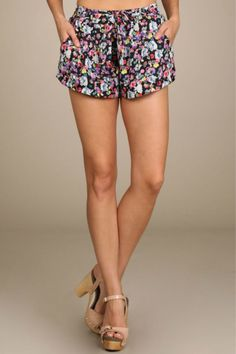 Clothing Nation Neon Floral Shorts
