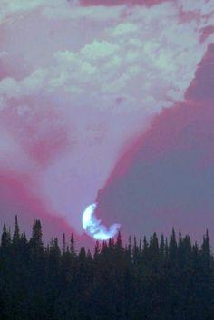 Image de moon, grunge, and sky