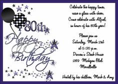 70th birthday party invitations wording crafts pinterest